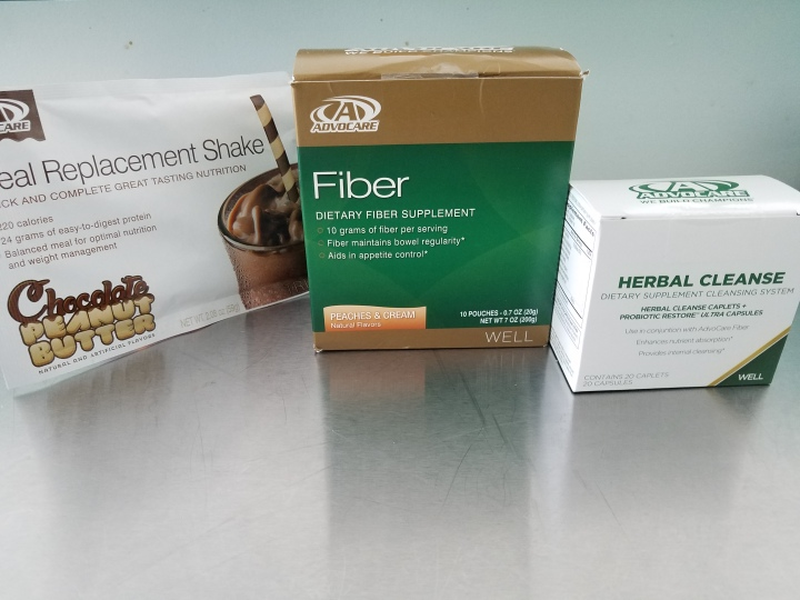 Chocolate Peanut Butter Shake for Breakfast and Herbal Cleanse System with Fiber Drinks